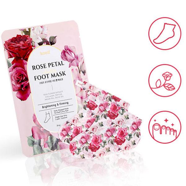 Koelf Rose Petal Satin hidratáló lábmaszk