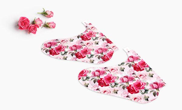 Koelf bőrpuhító rózsás lábmaszk