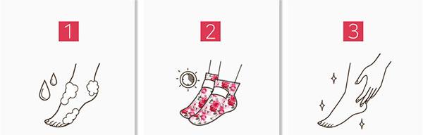 Koelf rózsás lábmaszk használata