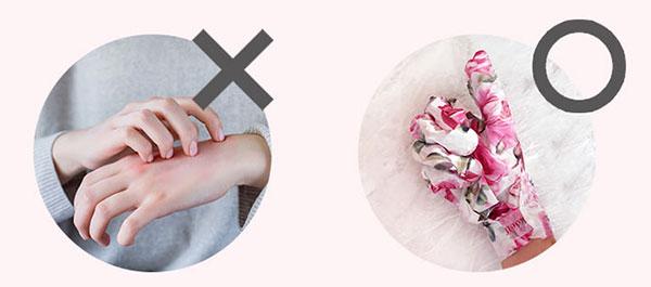Koelf bőrpuhító rózsás kézmaszk