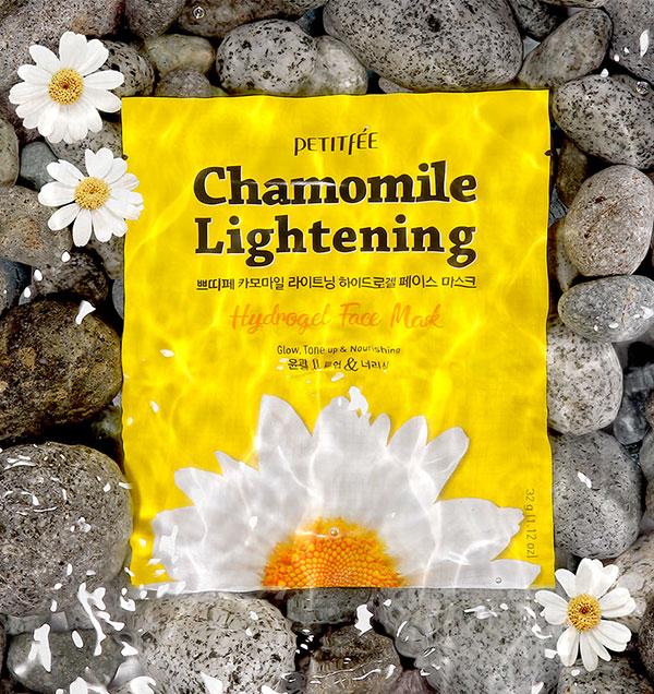 Petitfee Chamomile Lightening Hydrogel Facial Mask
