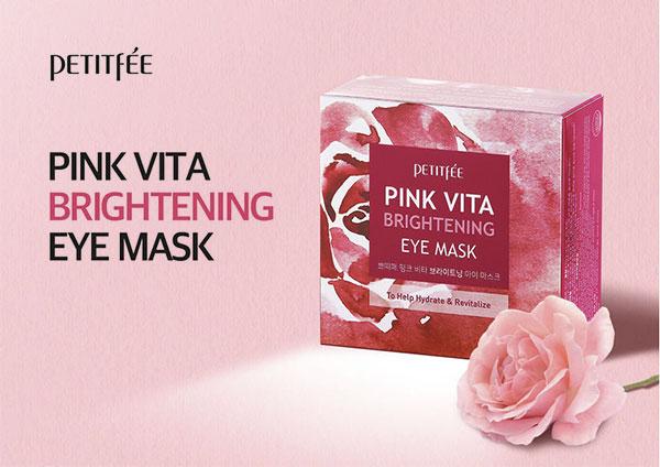 Petitfée Pink Vita Brightening Eye Mask