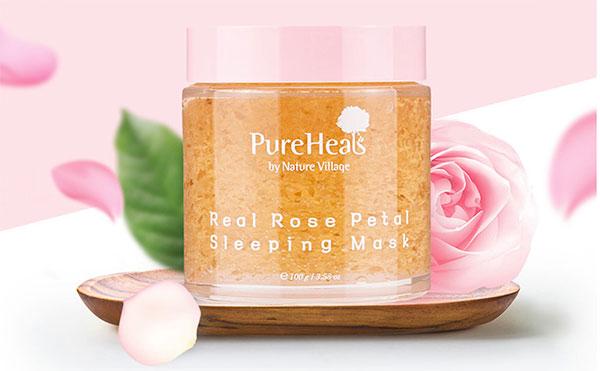Pure Heal's Real Rose Petal Sleeping Mask