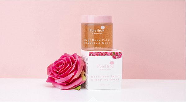 Pure Heal's Real Rose Petal arcmaszk természetes összetevőkkel