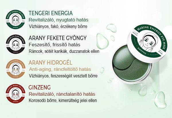 Shangpree hidrogél szemmaszkok hatása