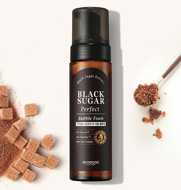 Skinfood Black Sugar Perfect Bubble Foam arctisztító hab barnacukorral