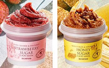 Skinfood epres és mézes lemosható arcmaszkok