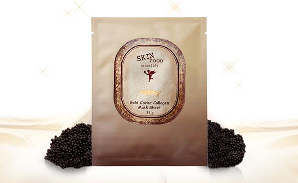 Skinfood Gold Caviar Collagen ránctalanító fátyolmaszk
